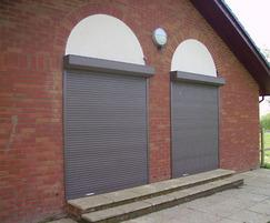 Securiguard electrically operated roller shutters