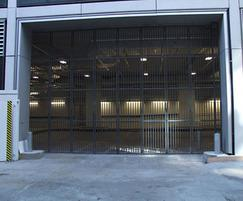 Multifold car park security entrance gate