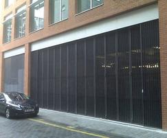 Multifold car park security entrance gates