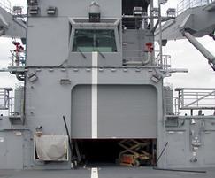 Roller shutter for secure entrances