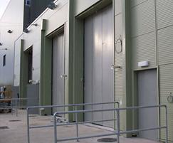 Sonafold insulated industrial folding doors