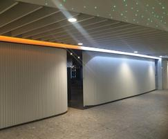 Contour curved shutters at Newcastle Airport