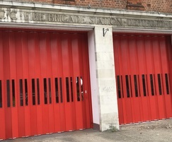 Superior folding industrial doors for fire station
