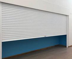 Roller shutter provides a secure entrance