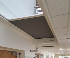 Fibreroll horizontal rolling fire curtains