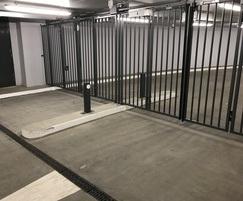 Bi-folding security gates