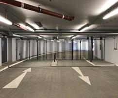 Bi-folding gates - car park