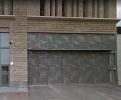 Bespoke folding security doors, transom and side panels