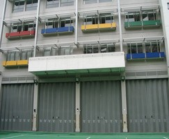 Superior folding shutters at fire station