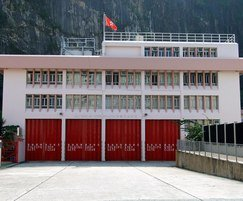Folding shutters for fire stations in Hong Kong