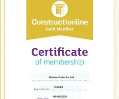 Bolton Gate Company: Bolton Gate confirm Constructionline Gold accreditation