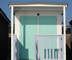 MTX panels used for beach hut