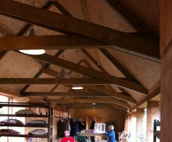 OSB3 used in a barn