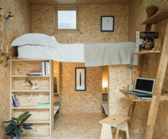 SHED interior SMARTPLY OSB