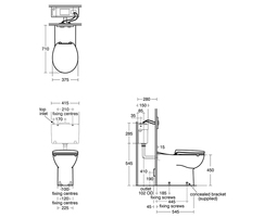 Contour 21+ 70cm projection back to wall rimless WC