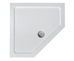 Simplicity low profile shower trays - pentagon