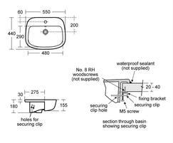 Studio Echo 55cm Semi-Countertop Washbasin