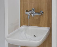 Markwik 21+ panel-mounted thermostatic basin mixer