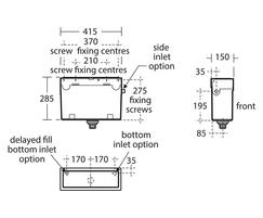 ASH Sensorflow21 S3599 technical drawing