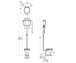 Technical drawing for Waverley high level WC