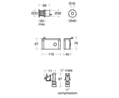Sensorflow 21 Panel Mounted Urinal Flush Sensor A7002(A