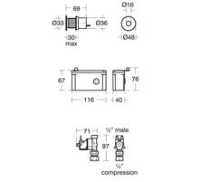 Sensorflow 21 Panel Mounted Urinal Flush Sensor A7059 A