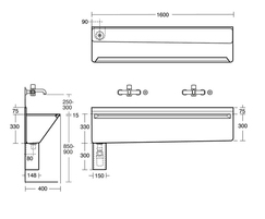 Firth trough sink technical drawing