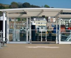 Bespoke entrance canopy for Jersey Marina