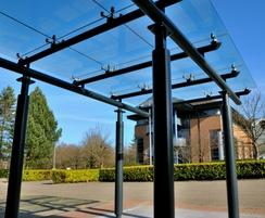 Bespoke canopy with structural mild steel framework