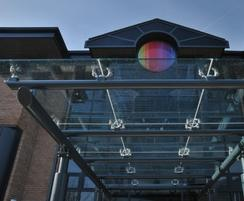 Bespoke canopy for business entrance