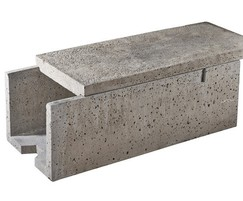 Anderlite 500 lightweight concrete cable trough & lid