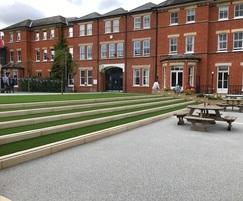 Hard Landscape construction in private school