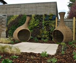 Hard and soft landscaping in courtyard garden