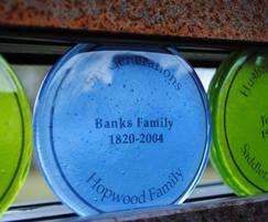Glass commemorative discs for memorial