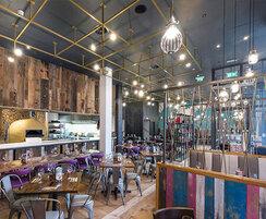 Bespoke ceiling lighting for restaurant
