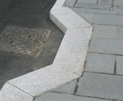 Granite kerb and setts at Dover Priory Station