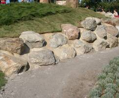 Natural stone boulders at Jubilee Way Playscape 2008