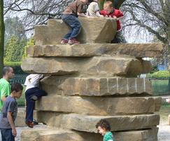 Yorkstone climbing tower at Bush Hill Park