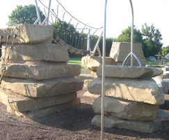 Yorkstone climbing feature at Floyds Field' Coventry