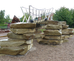 Yorkstone tower climbing feature' Hereford