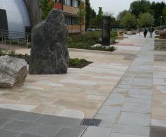 Natural stone paving at British Geological Survey HQ