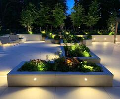 Moleanos limestone paving - private residence, London