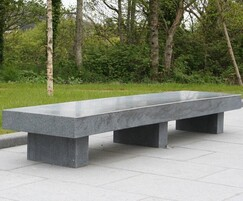 Polished granite bench for skate park