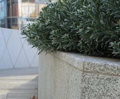 Granite planter detail
