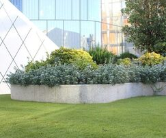 Silver grey granite for roof garden planters