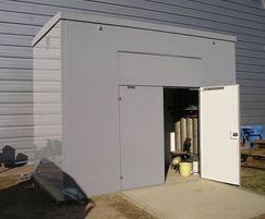 4mx4mx3.4m high GRP enclosure