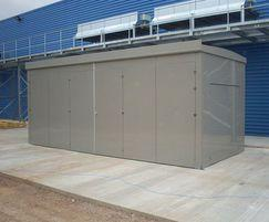 7m x 3.5m Double Tri fold Door Plant Room