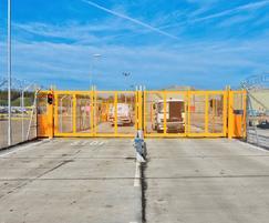 Bi-folding gates at an International Airport