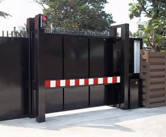 PAS 68 Terra Sliding Cantilevered Gate with bar infill