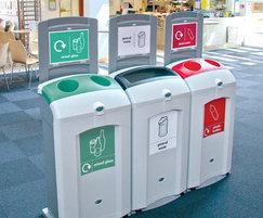 Nexus 100 Recycling Bins with Sign Kits Model
